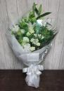 ホワイト+グリーンのお供え花束