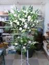 葬儀用スタンド花≪2段:白上がり≫