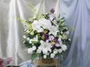 和篭の豪華な供花