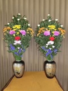 仏事用花瓶花(一対)