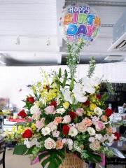 Ⅸ)フラワー&ふわふわバルーンで誕生日(豪ジャス)
