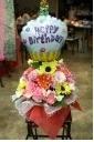 ☆誕生日!360°パノラマアレンジ&カップケーキ