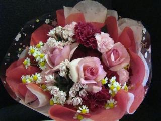 大人ピンクの花束