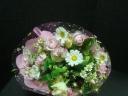 淡々ピンクの優しい花束