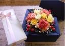 BOXフラワー≪orange≫焼き菓子セット