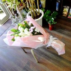 洋風お供え花束ピンク系