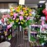 お祝いスタンド花1段ピンク×黄色