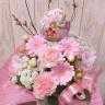 桜花バルーン春ピンクアレンジ