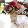 ピンクレッドカーネーション蜜蝋クリームセット
