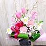 桜とピンクチューリップおめでとう