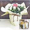 白いりんどうクリスタルアシロ6号鉢和スイーツセット