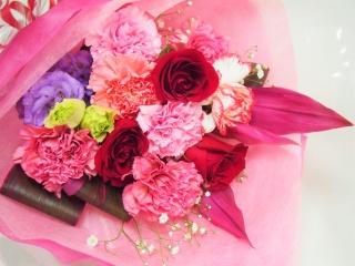 【大切な記念日に☆】赤いバラのアニバーサリーブーケ