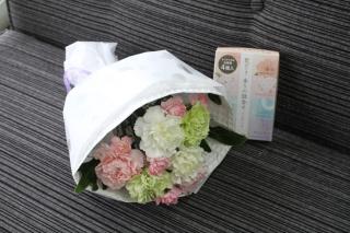 *お線香付き*カーネーションのお供え花束