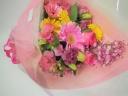 やさしいピンク色の花束