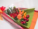 赤×オレンジのワンサイドブーケ