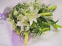 ピュアホワイトのお供え花束