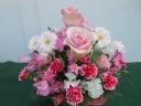 ピンク系のお花が盛りだくさんです。