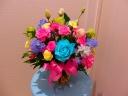 青いバラがとてもきれいです。