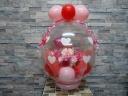 母の日バルーンラッピングレッド&ピンク