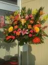 御祝開店にぜひ!色鮮やかスタンド花
