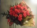 シンプル決定版!!赤バラの花束