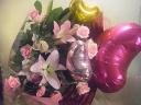 ピンク大好き!!!ピンクのバラとバルーン