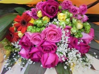 豪華バラの花束!