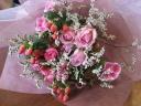 おまかせピンクの花束