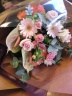 おしゃれピンクの花束