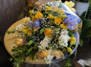 花束 『イエロー&ブルー』
