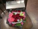 BOXフラワー 赤&ピンク