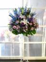 御祝スタンド花 ブルー・パープル系