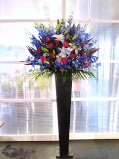 アンティークアイアンスタンド花