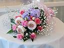 ピンク・紫系花束
