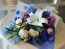 御供花束 白ブルー&紫系
