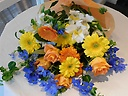 黄色・オレンジ+ブルー花束
