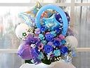 バルーンアレンジメント(ブルー&紫系)