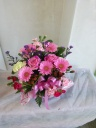 ピンクの花のアレンジメント