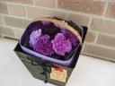 ムーンダスト8本の花束:ブーケインバッグ