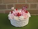 母の日:フラワーアレンジ イチゴのショートケーキ