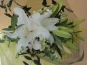 ゆりの花束・白