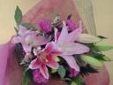 ゆりの花束・ピンク