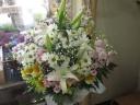 淡く優しい洋風お供え花