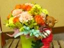 くまおくんと一緒にたくさんのお花を♪