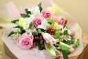 ふんんわりピンクの花束
