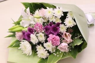 ありがとう。。。/お悔み用花束