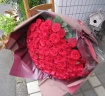 ROSERAIE(ロズレ)100本の赤いバラ