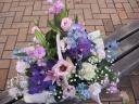 紫、ピンク、ブルー系アレンジメント