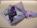 ブルー紫系のシックな花束