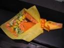 黄色オレンジ系の花束☆